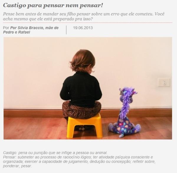 Site da Revista Pais & Filhos